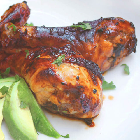 Chicken Drumsticks with Chipotle Glaze