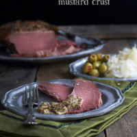 Baked Corned Beef with Mustard Crust