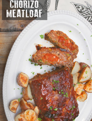 Chorizo Meatloaf with potatoes by FamilySpice.com