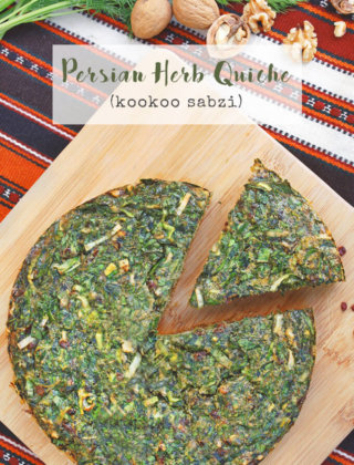 Persian Herb Quiche (Kookoo Sabzi) for Nowruz by FamilySpice.com