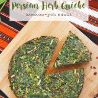 Persian Herb Quiche | Kookoo Sabzi (kuku sabzi)