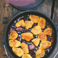 Campfire Dutch Oven Berry Cobbler