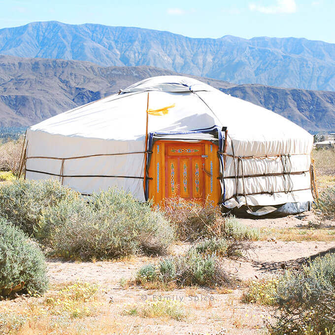 A yurt in the desert of Anza Borrego California by FamilySpice.com