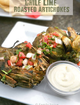 Chile Lime Roasted Artichokes