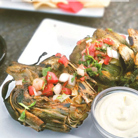 Chile Lime Grilled Artichokes