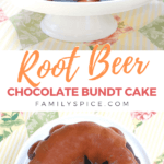 pinterest image for root beer cake by FamilySpice.com