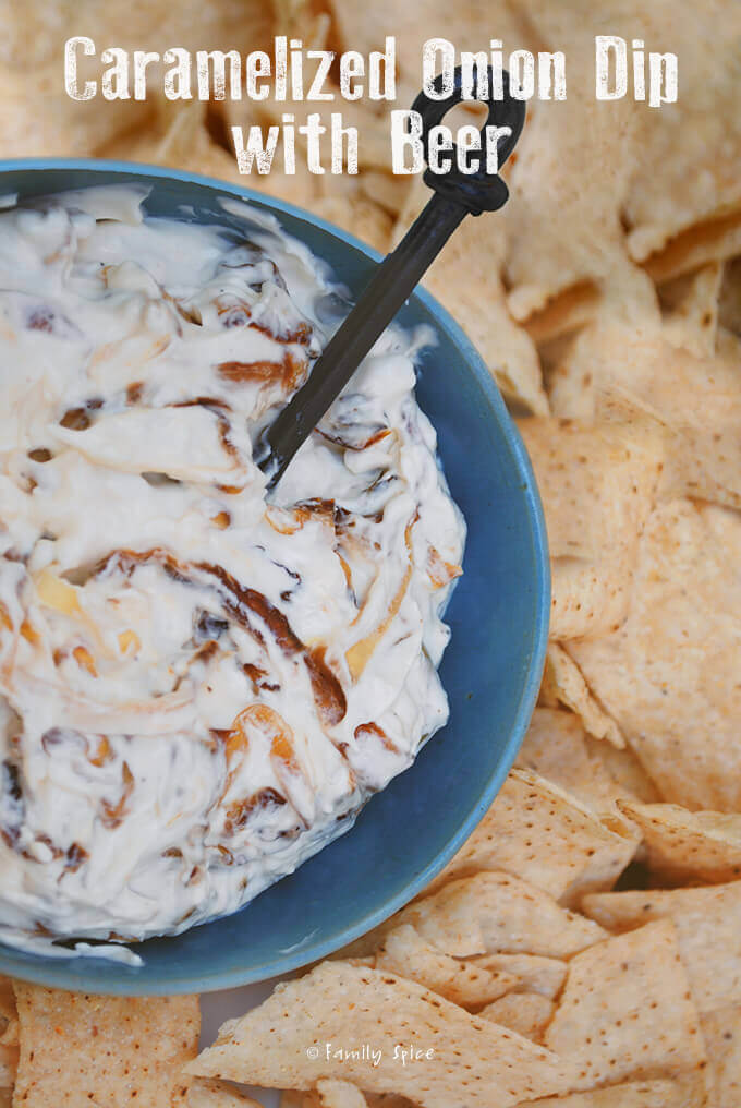 Caramelized Onion Dip with Beer by FamilySpice.com