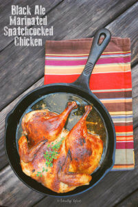 Cooking with Beer: Black Ale Marinated Spatchcocked Chicken by FamilySpice.com