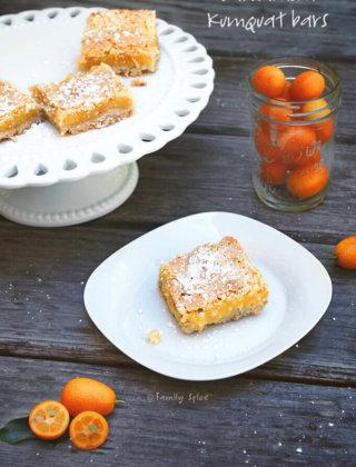 Cardamom Kumquat Bars