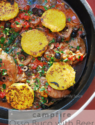 Osso Buco with Beer, Olives, and Gremolata by FamilySpice.com