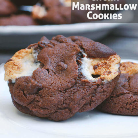 Double Chocolate Chunk Marshmallow Cookies