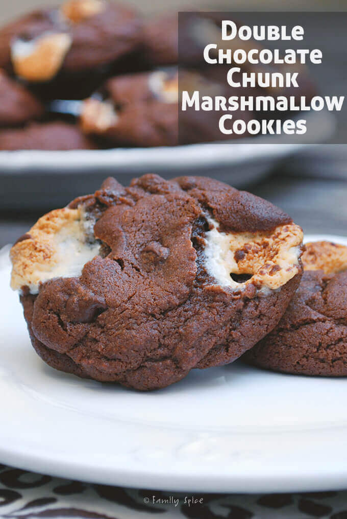 Double Chocolate Chunk Marshmallow Cookies by FamilySpice.com