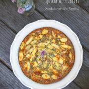 Persian Fingerling Potato Quiche with Chives (Kookoo-yeh Sib-Zamini) by FamilySpice.com