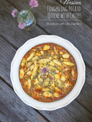 Persian Fingerling Potato Quiche with Chives (Kookoo-yeh Sib-Zamini)