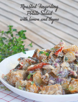 Roasted Fingerling Potato Salad with Lemon and Thyme by FamilySpice.com
