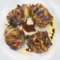 Grilled Artichokes with Balsamic Vinegar