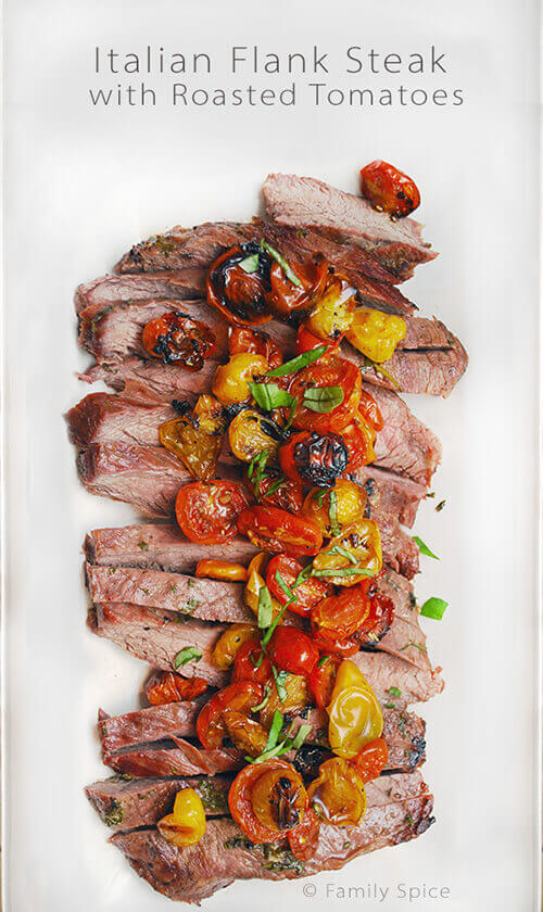 Italian Flank Steak with Roasted Tomatoes