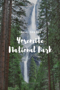 Yosemite Travel TIps featuring Yosemite Falls by FamilySpice.com