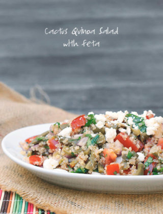 Cactus Quinoa Salad with Feta by FamilySpice.com