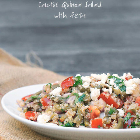 Quinoa Salads: Cactus Quinoa Salad with Feta