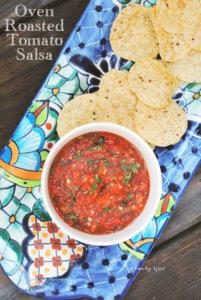 Oven Roasted Tomato Salsa by FamilySpice.com