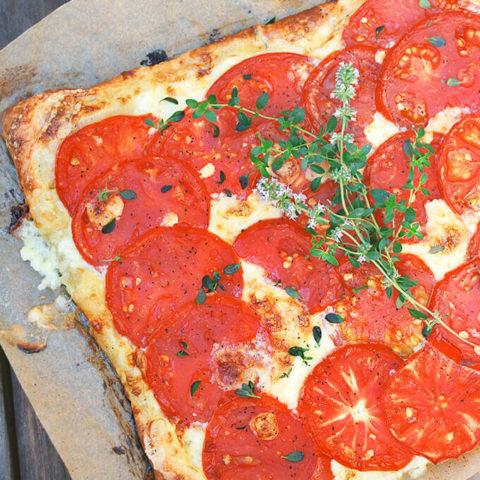 Tomato Brie Tart by FamilySpice.com