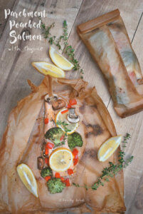 Parchment Poached Salmon with Thyme by FamilySpice.com