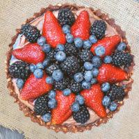 Nutella Berry Pie with Pretzel Crust