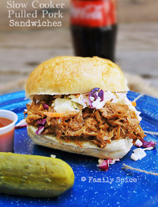 Slow Food USA's $5 Food Challenge: Slow Cooker Pulled Pork Sandwiches by FamilySpice.com