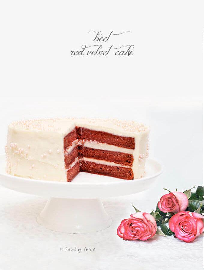 Beet Red Velvet Cake by FamilySpice.com