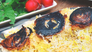 Basmati Rice with Cabbage (Kalam Polo)