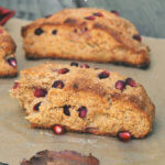 Yogurt Whole Wheat Scones with Pomegranate by FamilySpice.com
