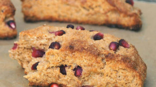 Yogurt Whole Wheat Scones with Pomegranate