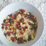 Breakfast Quinoa with Pomegranate by FamilySpice.com