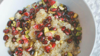 Breakfast Quinoa with Pomegranate