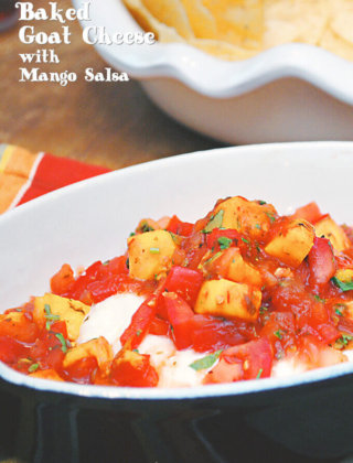 Cooking with Salsa: Baked Goat Cheese with Mango Salsa