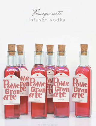 DIY Pomegranate Vodka by FamilySpice.com