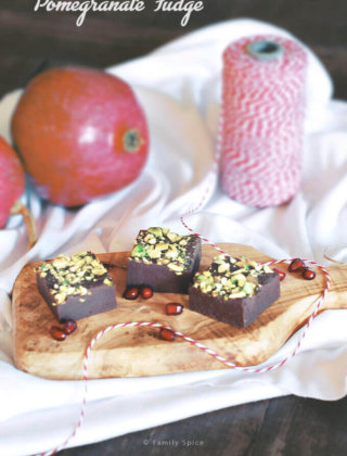 Pomegranate Fudge with Pistachios by FamilySpice.com