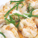 Steamed Halibut Fillets with Garlic Oil by FamilySpice.com