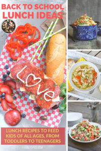 A collage of Back to School Lunch Ideas by FamilySpice.com