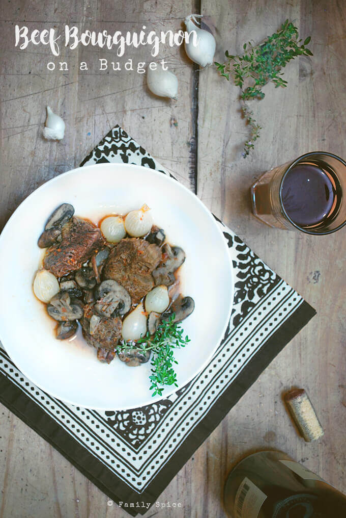 Ina Garten Beef Bourguignon on a Budget by FamilySpice.com