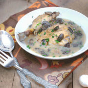 Slow Cooker Chicken Fricassée by FamilySpice.com