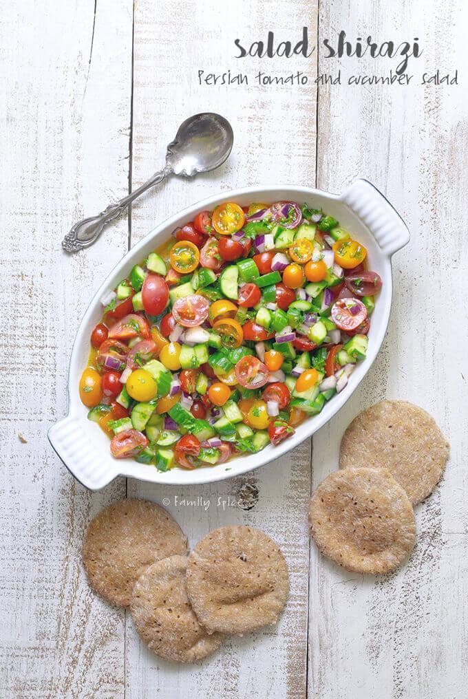 Persian Shirazi Salad by FamilySpice.com