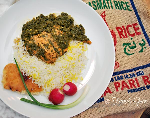 Persian Salmon and Cilantro Stew (Ghalieh Mahi) by FamilySpice.com