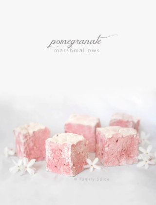 Pink Pomegranate Marshmallows by FamilySpice.com
