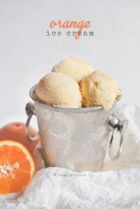Homemade Orange Sherbet (or orange ice cream) by FamilySpice.com