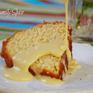 Silky Vanilla Pastry Cream with Sponge Cake