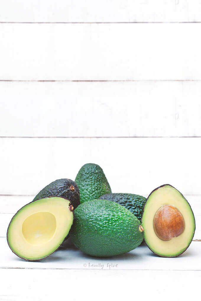 A small pile of Hass avocados by FamilySpice.com