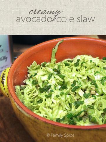 Creamy Avocado Cole Slaw by FamilySpice.com
