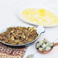 Persian Green Almond Stew (Khoresh Chaghaleh Badoom)
